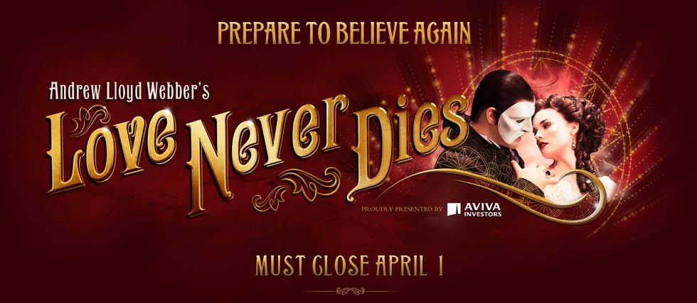 Andrew Lloyd Webber S Love Never Dies Tickets Premium