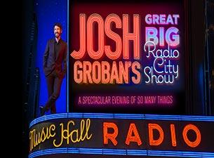Josh Groban Tour 2020.Tickets Josh Groban S Great Big Radio City Show New York