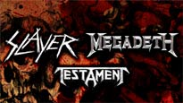 FREE Slayer and Megadeth with Testament presale code for concert tickets.