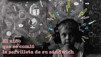 El niño que se comió la servilleta de su sándwich
