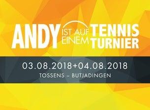 Andy Ist Auf Einem Tennisturnier