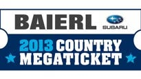 presale code for Baierl Subaru Country Megaticket tickets in Burgettstown - PA (First Niagara Pavilion)