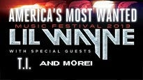 America's Most Wanted Festival 2013 starring Lil' Wayne presale code for early tickets in Tinley Park