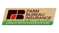 Logo for Farm Bureau Insurance Lawn at White River State Park