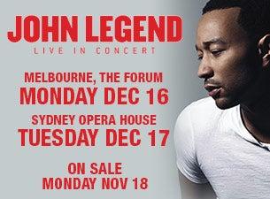 John legend tour dates in Melbourne