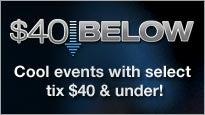 $40 Below Tickets