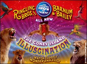 Ringling Bros. and Barnum & Bailey : The Coney Island Illuscination Tickets