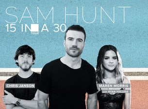 Sam Hunt 15 In A 30 Tour
