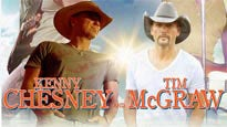 Kenny Chesney and Tim McGraw discount offer for show in Landover, MD (FedExField)