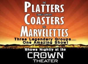 The Platters, Cornell Gunter's Coasters, the Marvelettes Tickets