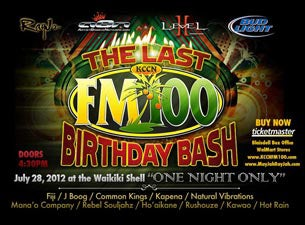 KCCN Fm100 Birthday Bash Tickets