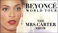 The Mrs. Carter Show World Tour Starring BEYONCÉ pre-sale password for concert tickets in Louisville, KY (KFC Yum! Center)