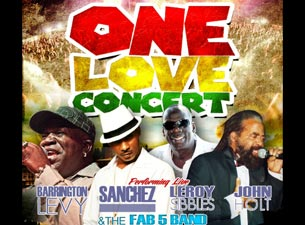 One Love Concert Tickets