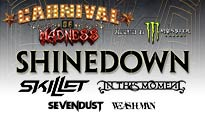 Carnival of Madness Tour featuring Shinedown discount offer for show tickets in Bloomington, IL (US Cellular Coliseum)