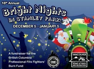 Stanley Park Bright Nights Christmas TrainTickets