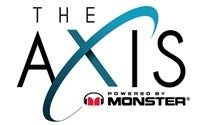 Logo for The Axis Powered by Monster at Planet Hollywood