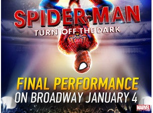 SPIDERMAN Turn Off The Dark Ticketmaster