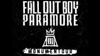 presale code for Monumentour: Fall Out Boy and Paramore tickets in Milwaukee - WI (Marcus Amphitheater Summerfest)