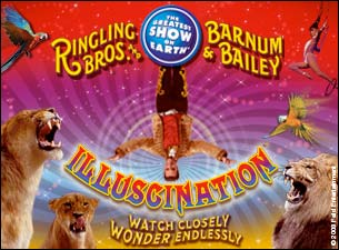 Ringling Bros. and Barnum & Bailey : Illuscination Tickets