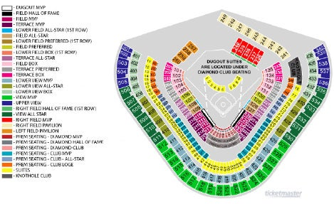 Dodger stadium map