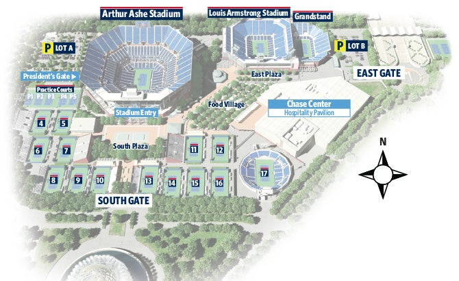 US Open Tennis World Tours Guide And Tips To Visiting The US Open - Us open grounds map 2017
