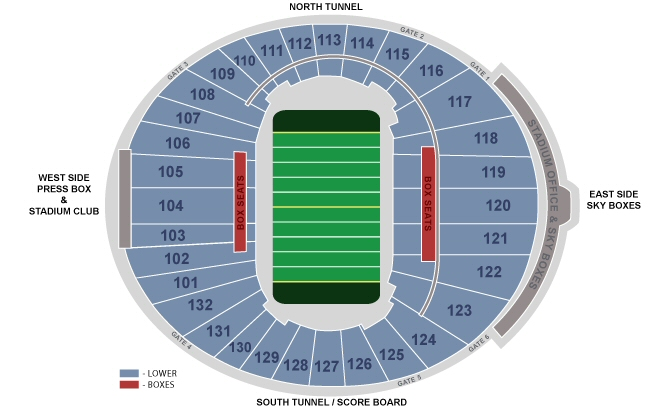 Seating Chart: Football