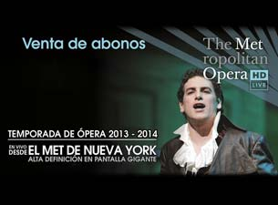 The Metropolitan Opera, New York Boletos