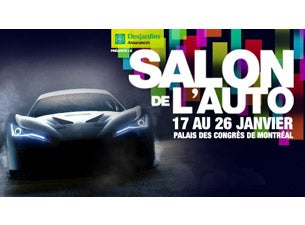 Salon International de l'Auto de Montréal Billets